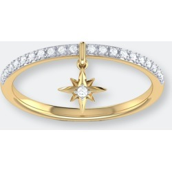 Little North Star Diamond Charm Ring In 14k Yellow Gold Vermeil On Sterling Silver - 5 - Also in: 5.5, 6, 9.5, 6.5, 7, 8, 8.5, 10, 7.5, 9 found on Bargain Bro from Verishop Inc for USD $189.24
