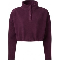 Tridri Womens/Ladies Cropped Fleece Top (Mulberry Red) - XXS - Also in: L/XL, S/M, XS found on Bargain Bro Philippines from Verishop Inc for $22.45