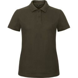 B & C Womens/Ladies Id.001 Plain Short Sleeve Polo Shirt (Brown) - 2XL - Also in: 3XL, XL, M, XS, S, L found on Bargain Bro Philippines from Verishop Inc for $16.95