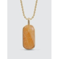 Yellow Lace Agate Tag In 14k Yellow Gold Plated Sterling Silver found on Bargain Bro from Verishop Inc for USD $288.04