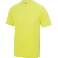 Just Cool Mens Performance Plain T-Shirt (Electric Yellow) - L - Also in: 2XL, S, XS, M found on Bargain Bro Philippines from Verishop Inc for $15.70