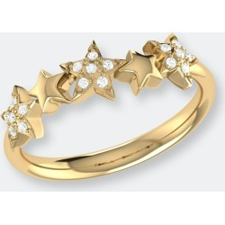 Sparkling Starry Lane Diamond Ring In 14k Yellow Gold Vermeil On Sterling Silver - 5 - Also in: 6.5, 8.5, 5.5, 9.5, 7.5, 10, 8, 6, 9, 7 found on Bargain Bro from Verishop Inc for USD $174.04