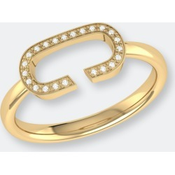 Celia C Diamond Ring In 14k Yellow Gold Vermeil On Sterling Silver - 9 - Also in: 9.5, 6, 8.5, 6.5, 8, 10, 5, 7, 5.5, 7.5 found on Bargain Bro from Verishop Inc for USD $113.24
