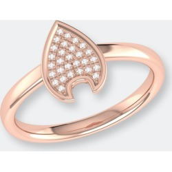 Raindrop Diamond Ring In 14k Rose Gold Vermeil On Sterling Silver - 8 - Also in: 5, 8.5, 5.5, 10, 7.5, 9.5, 6, 6.5, 9, 7 found on Bargain Bro from Verishop Inc for USD $151.24