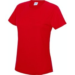 Just Cool Womens/Ladies Sports Plain T-Shirt (Fire Red) - L - Also in: XXL, XL, XS, S, M found on Bargain Bro Philippines from Verishop Inc for $15.95