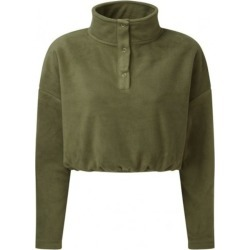 Tridri Womens/Ladies Cropped Fleece Top (Olive) - XS - Also in: XXS, S/M, L/XL found on Bargain Bro Philippines from Verishop Inc for $22.45