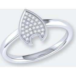 Raindrop Diamond Ring In Sterling Silver - 5 - Also in: 5.5, 8, 8.5, 7, 7.5, 6.5, 9.5, 10, 6, 9 found on Bargain Bro from Verishop Inc for USD $136.04