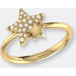Dazzling Starkissed Duo Diamond Ring In 14k Yellow Gold Vermeil On Sterling Silver - 7 - Also in: 10, 8, 7.5, 8.5, 9, 5, 5.5, 6.5, 9.5, 6 found on Bargain Bro from Verishop Inc for USD $189.24