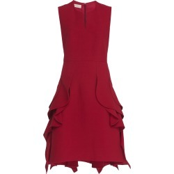 DELPOZO Ruffled Crepe Dress
