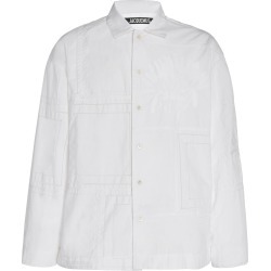 Jacquemus La Chemise Mouchoirs Patchwork Cotton Shirt Size: 46 found on Bargain Bro India from Moda Operandi for $960.00