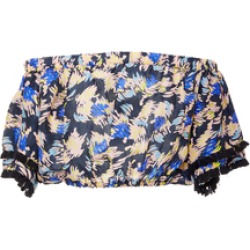 A Peace Treaty Specialorder-Yuna Printed Crop Top-MS found on MODAPINS from Moda Operandi for USD $135.00