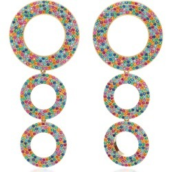 Joanna Laura Constantine Rainbow Grommets Gold-Plated Brass and Cubic found on Bargain Bro UK from moda operandi uk