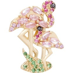 Yvonne Leon Flamingo 18K Gold, Diamond and Tsavorite Single Earring found on Bargain Bro Philippines from Moda Operandi for $1740.00