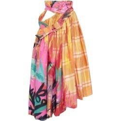 Marni Painted Plaid Silk Cutout Midi Skirt Size: 36 found on Bargain Bro Philippines from Moda Operandi for $3100.00