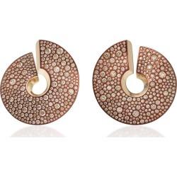 Vhernier 18K White Gold With Brown Diamonds Verso Earrings found on Bargain Bro India from Moda Operandi for $52250.00