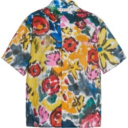 Marni Floral-Print Voile Button-Front Shirt Size: 42 found on Bargain Bro Philippines from Moda Operandi for $850.00