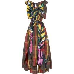 Marni Painted Plaid Silk Open-Back Midi Dress Size: 40 found on Bargain Bro Philippines from Moda Operandi for $4290.00