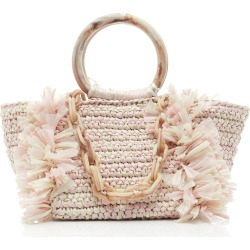 Carolina Santo Domingo M'O Exclusive Corallina Raffia Bag