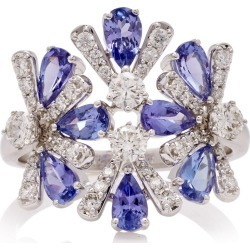 Hueb Exclusive 18K White Gold, Tanzanite And Diamond Ring found on Bargain Bro Philippines from Moda Operandi for $3240.00