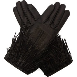 Agnelle - Clara Tasselled Leather Gloves - Womens - Black found on MODAPINS from Matches UK for USD $203.66