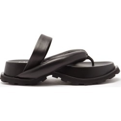 Jil Sander - Padded Nappa-leather Flatform Slides - Womens - Black found on Bargain Bro UK from Matches UK