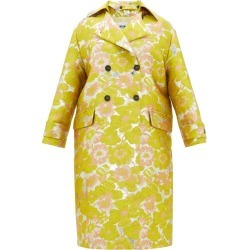 MSGM - Double-breasted Floral Brocade Coat - Womens - Yellow found on Bargain Bro UK from Matches UK
