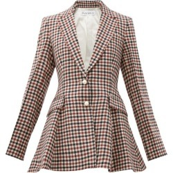 JW Anderson - Single-breasted Peplum Checked Virgin-wool Blazer - Womens - Brown Multi found on MODAPINS from MATCHESFASHION.COM - AU for USD $1179.00