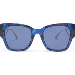 Dior Eyewear - 30montaigne1 Square Acetate And Metal Sunglasses - Womens - Blue found on Bargain Bro UK from Matches UK