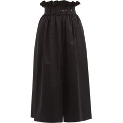 MSGM - Belted Cotton-poplin Skirt - Womens - Black found on Bargain Bro UK from Matches UK