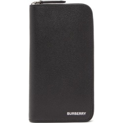 Burberry - Logo-stamped Grained-leather Continental Wallet - Mens - Black found on Bargain Bro from Matches UK for £463