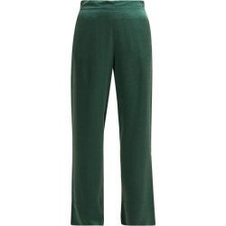 Asceno - Sandwashed Silk Pyjama Trousers - Womens - Dark Green found on MODAPINS from Matches UK for USD $274.26