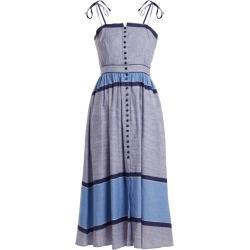 Gül Hürgel - Striped Linen-cotton Midi Dress - Womens - Dark Blue found on Bargain Bro Philippines from Matches Global for $255.00