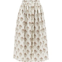 Brock Collection - High-rise Floral-print Cotton-blend Skirt - Womens - White Print found on MODAPINS from MATCHESFASHION.COM - AU for USD $499.46