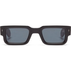 Jacques Marie Mage - Ascari Rectangle Acetate Sunglasses - Womens - Black found on MODAPINS from Matches UK for USD $734.20