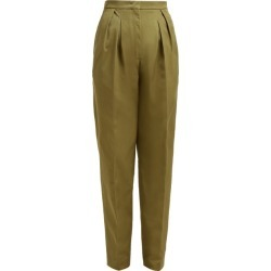 Golden Goose - Felicia High-rise Straight-leg Trousers - Womens - Khaki found on Bargain Bro UK from Matches UK