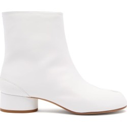 Maison Margiela - Tabi Split-toe Leather Boots - Womens - White found on Bargain Bro from Matches UK for £654