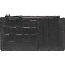 Bottega Veneta - Intrecciato-debossed Leather Cardholder - Mens - Black Silver found on Bargain Bro UK from Matches UK