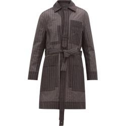 Craig Green - Pinstripe-stitch Technical-organza Coat - Mens - Grey