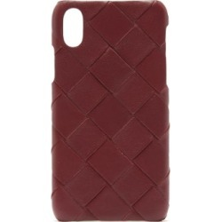 Bottega Veneta - Intrecciato Iphone® X Leather Phone Case - Womens - Burgundy found on Bargain Bro Philippines from Matches Global for $450.00