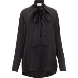 Jil Sander - Friday P.m. Pussy-bow Silk Shirt - Womens - Black found on Bargain Bro UK from Matches UK