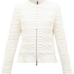 Moncler - Ambre Ruffled Quilted-down Jacket - Womens - Ivory found on Bargain Bro India from Matches Global for $1595.00