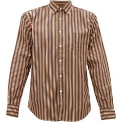 Cobra S.c. - Patch-pocket Striped Cotton Shirt - Mens - Red Multi found on Bargain Bro India from MATCHESFASHION.COM - AU for $136.80