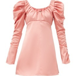 Ellery - Amiata Off-the-shoulder Satin Mini Dress - Womens - Pink found on MODAPINS from MATCHESFASHION.COM - AU for USD $1013.08