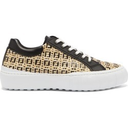 Fendi - Ff-monogram Faux-raffia Trainers - Mens - Black Brown found on Bargain Bro UK from Matches UK