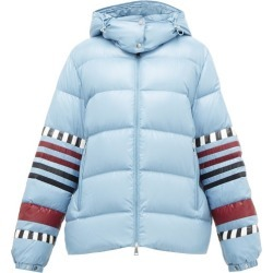 1 Moncler Pierpaolo Piccioli - Anna Striped Down-filled Jacket - Womens - Blue Multi found on Bargain Bro India from Matches Global for $2300.00
