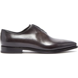 Berluti - Alessandro Éclair Leather Oxford Shoes - Mens - Black found on MODAPINS from Matches Global for USD $2350.00
