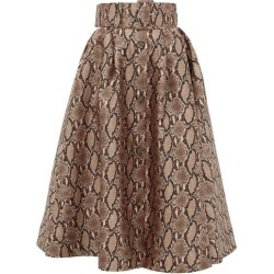 MSGM - Snake-print Satin Midi Skirt - Womens - Beige Multi found on Bargain Bro UK from Matches UK
