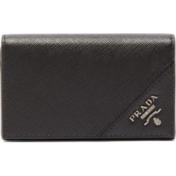 Prada - Logo-plaque Saffiano-leather Wallet - Mens - Black found on Bargain Bro UK from Matches UK