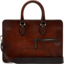 Berluti - Un Jour Scritto Mini Leather Briefcase - Mens - Brown found on MODAPINS from Matches Global for USD $3450.00