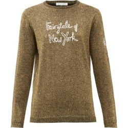 Bella Freud - Fairytale Of New York Wool-blend Metallic Sweater - Womens - Gold found on MODAPINS from Matches Global for USD $312.00